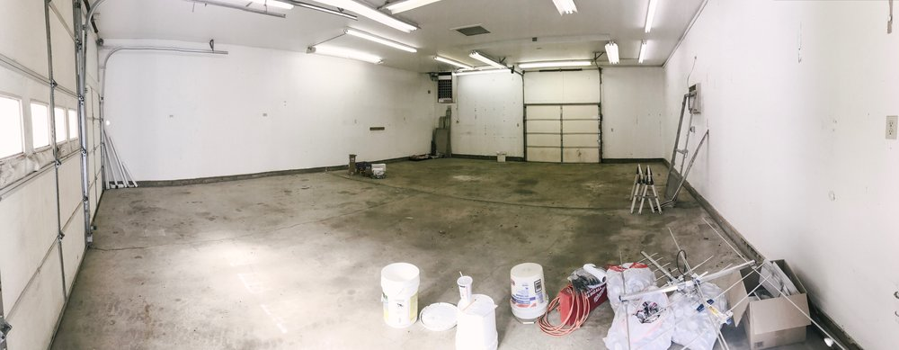 The shop! We will be putting up a wall and making the back third our studio/office space!