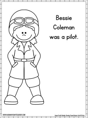 Stunning Bessie Coleman Coloring Page Images - Style and Ideas ...