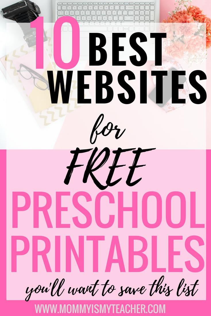 10 Best Websites for Free Preschool Printables — Mommy is My ...