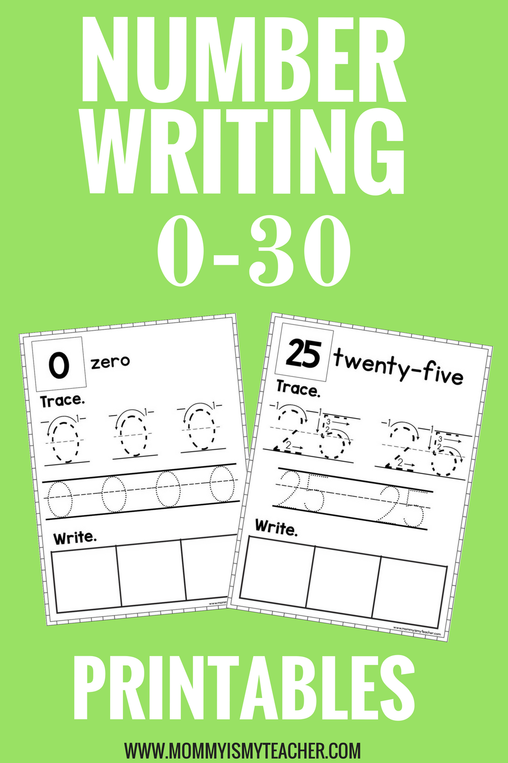 Number Worksheet Bundle — Mommy is My Teacher