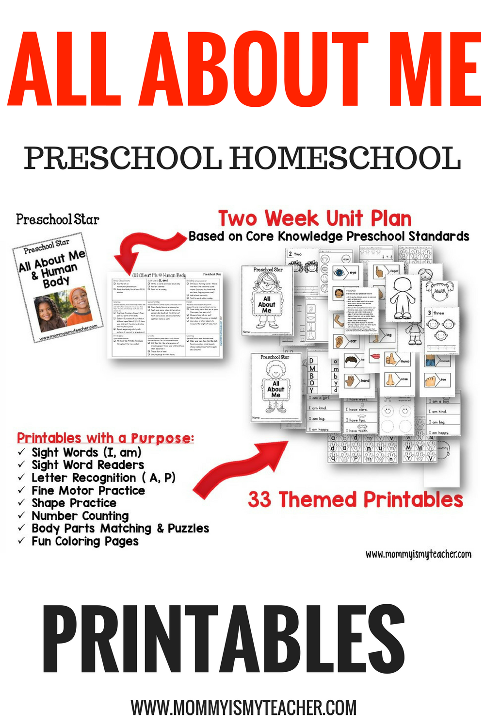 Wow, I love these fun All about me preschool activities and printables! They are great for a preschool homeschool curriculum and preschool activities at home.