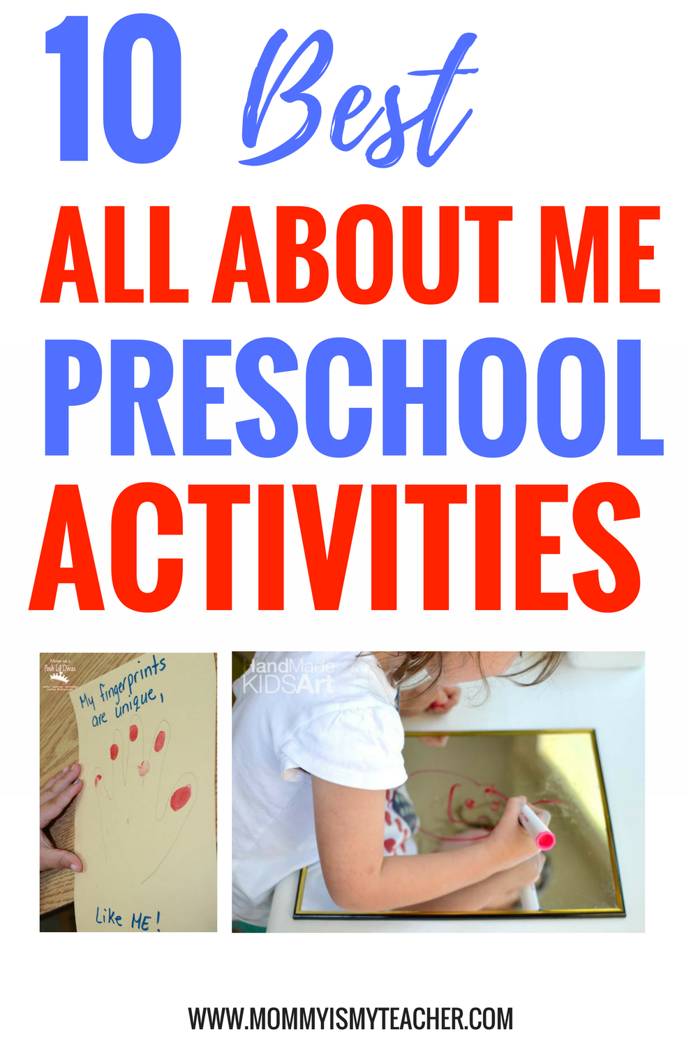 photograph relating to All About Me Printable Preschool known as 10 Pleasurable Preschool All More than Me Actions Mommy is My Instructor
