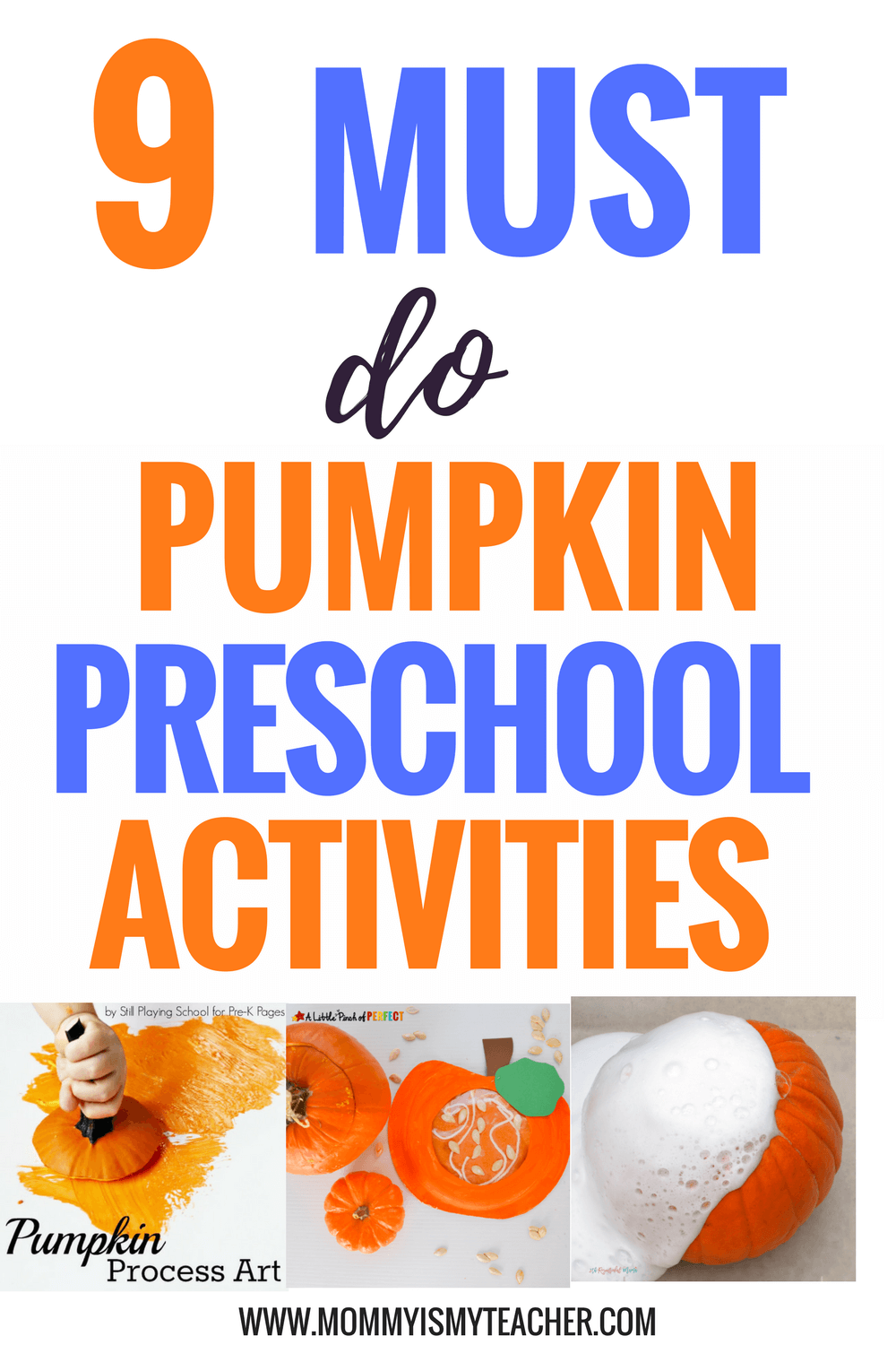 Wow, I love these fun pumpkin preschool activities! They are great for preschool homeschool and preschool activities at home!