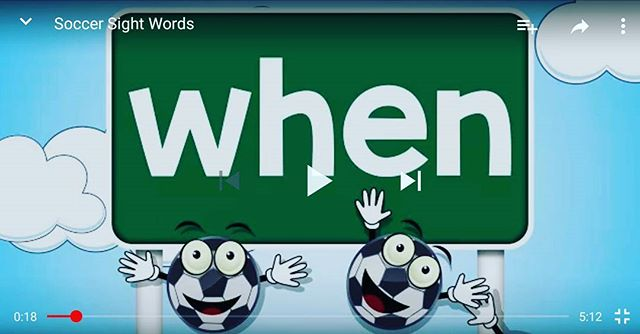 "New sight words video up on our YouTube channel... click link in bio,  then ""Watch on YouTube""."