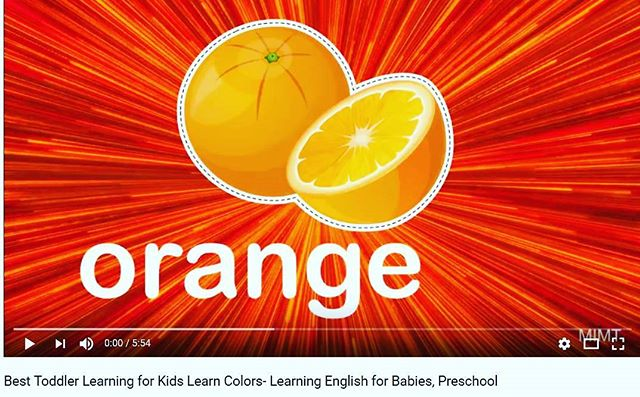 "New educational video up to help your child learn colors,  click link in bio,  then ""watch on YouTube""..."