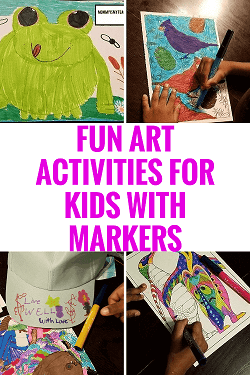 Wow, I love these fun art activities for kids with markers!