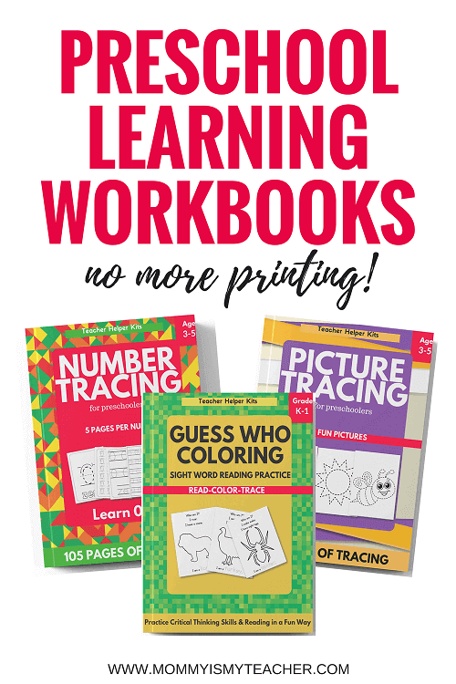 Wow, I love these preschool learning workbooks for preschool homeschool curriculum. These are better than the free preschool printables for homeschool since I don't have to worry about printing!