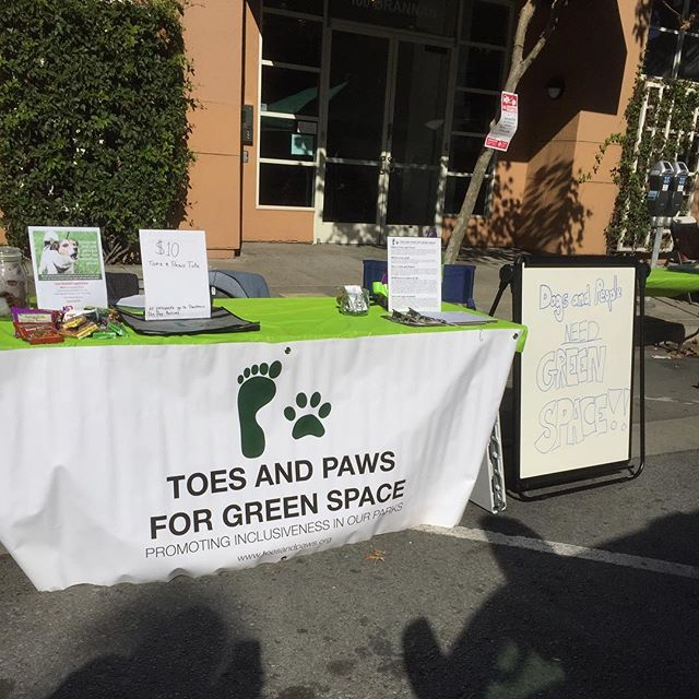 Come say hi at #pawtrerodogday! We have treats for dogs and their humans!! #greenspaceisimportant