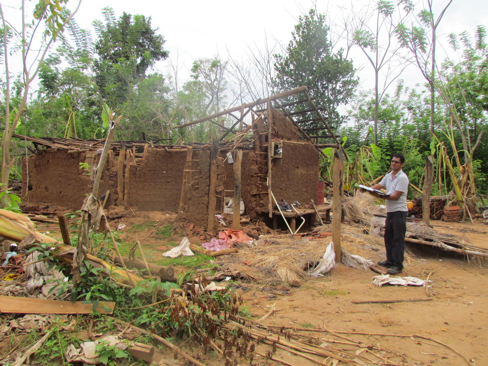 Ashoka recording property damages done by elephants in the villages bordering the UWNP
