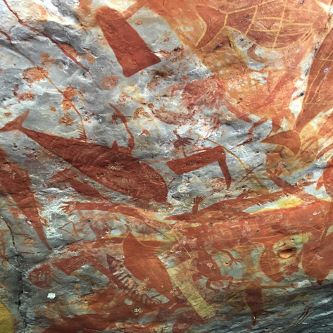 Cave Paintings - this site is a communal gathering area for all family clans on Groote Eylandt.