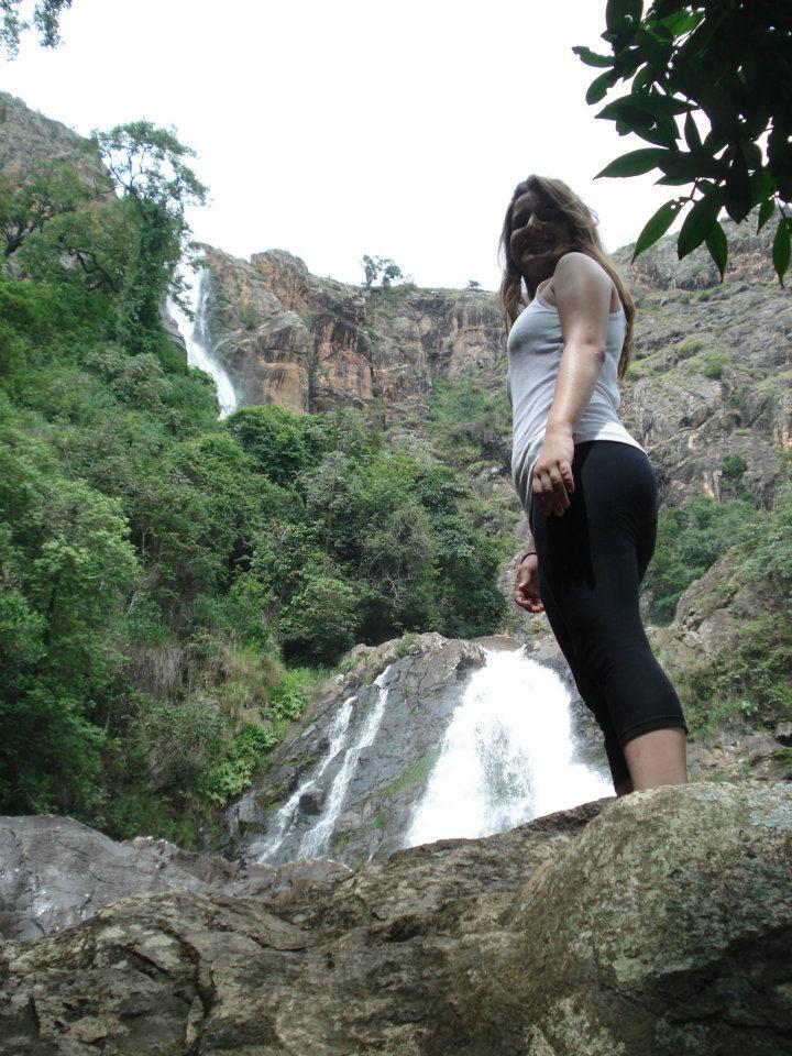 At one of the beautiful waterfalls from Serra da Canastra, Minas Gerais, where you can find both Mata Atlantica Forest and the brazilian Cerrado biomas.