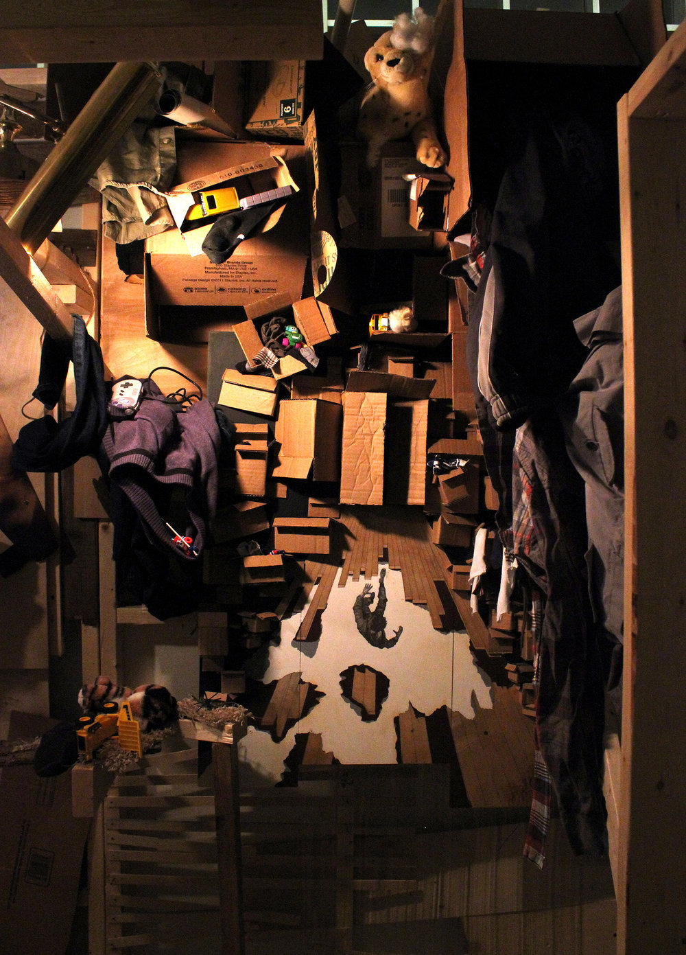 A merge of the hallway and attic. Storage of personal belongings of those lost is too much to bear. Falls through the hole in the hallway floor.