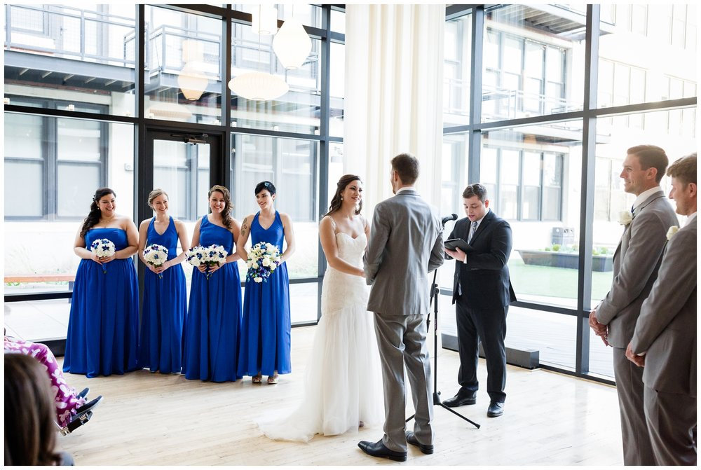 ceremony at greenhouse loft in Chicago