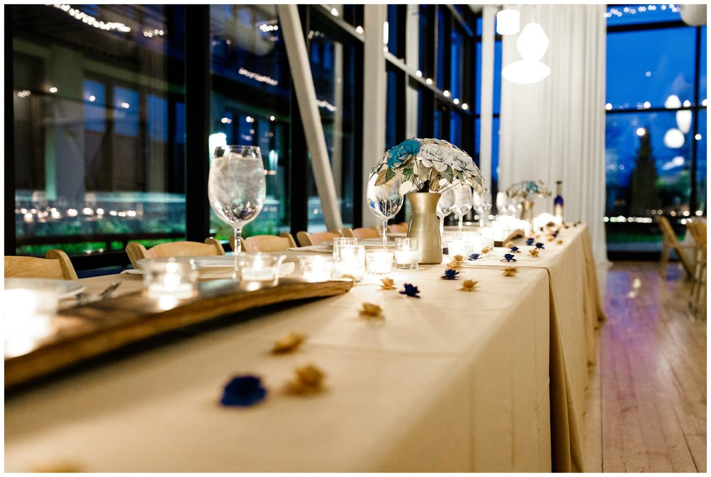 wedding reception at Chicago's Greenhouse Loft