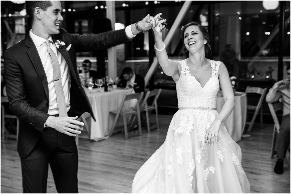 bride and groom's first dance at Greenhouse Loft in Chicago