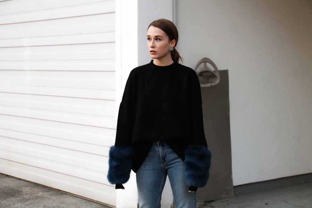 The Weave by Pamela Churchill Vancouver-based Art and Style Blog Zara Faux Fur Sweater Winter Wardrobe