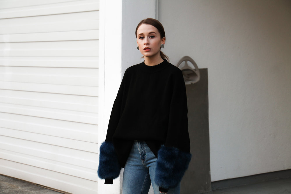 The Weave by Pamela Churchill Vancouver-based Art and Style Blog Zara Faux Fur Sweater Winter Wardrobe 2
