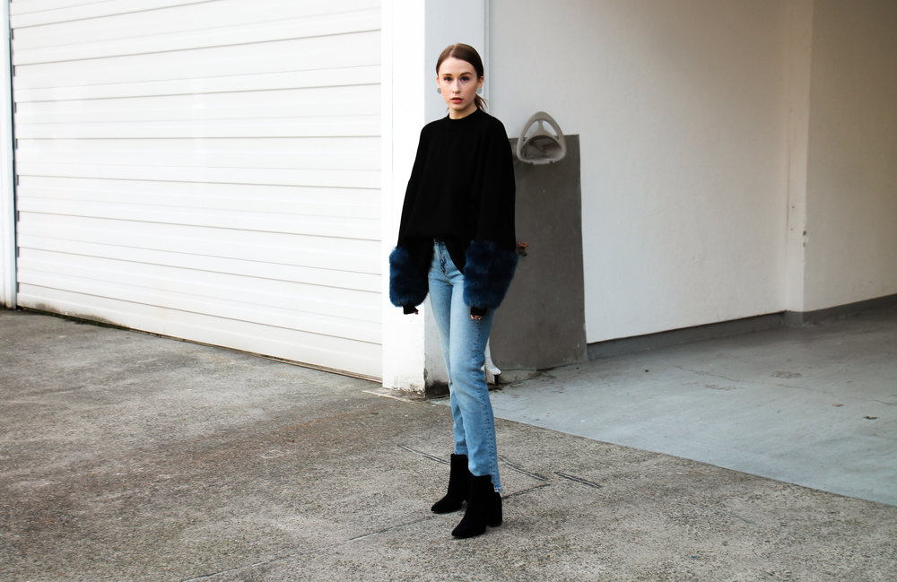 The Weave by Pamela Churchill Vancouver-based Art and Style Blog Zara Faux Fur Sweater Winter Wardrobe 3
