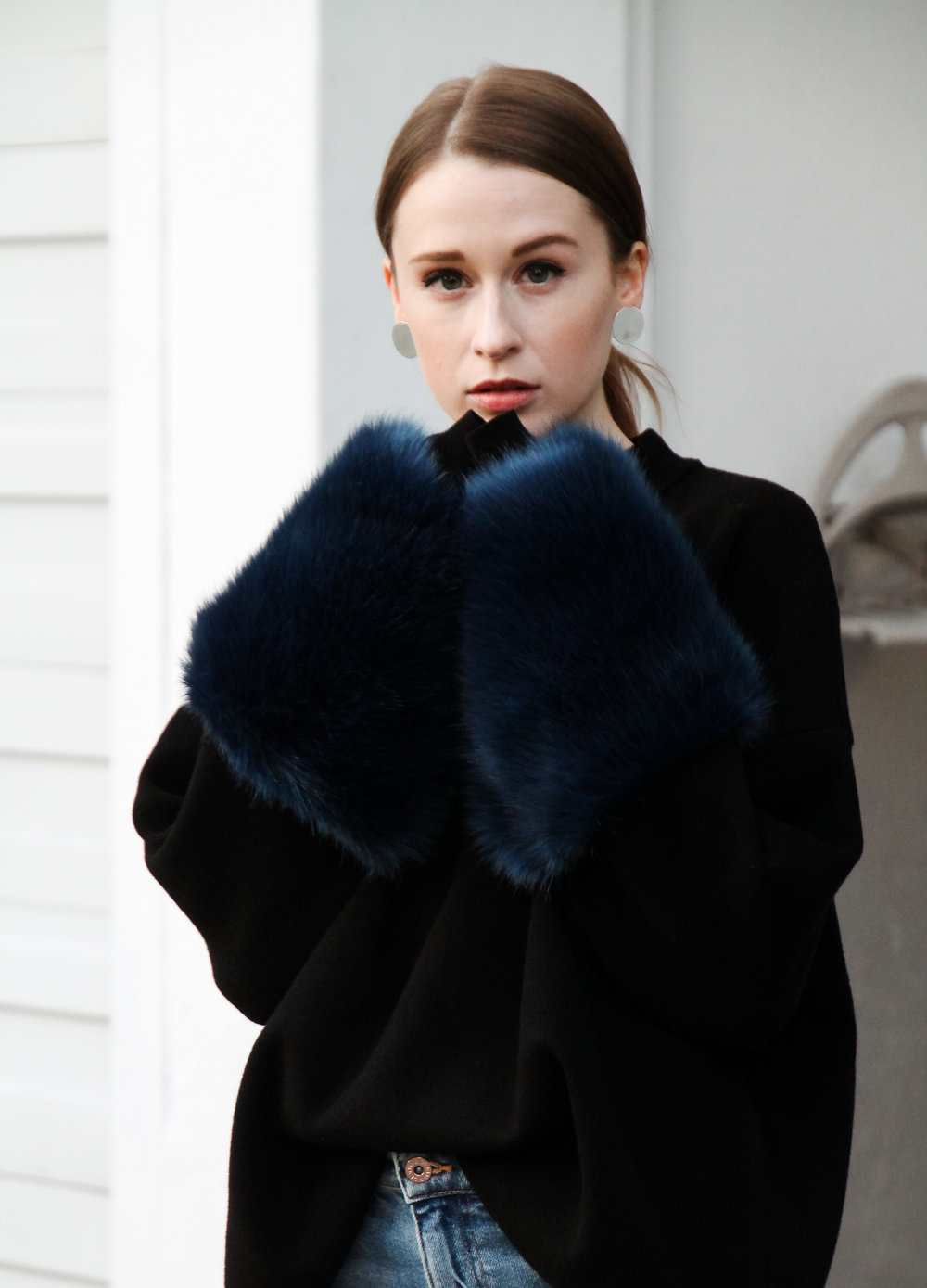 The Weave by Pamela Churchill Vancouver-based Art and Style Blog Zara Faux Fur Sweater Winter Wardrobe 6