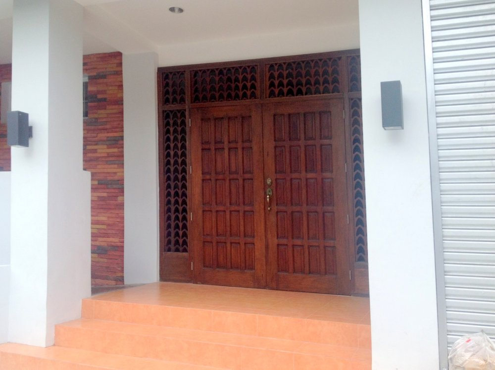 Entrance Manilla Calvary Church. Restored doors from the original church built by Reverend Chanco & Photo Gallery u2014 CMFE USA