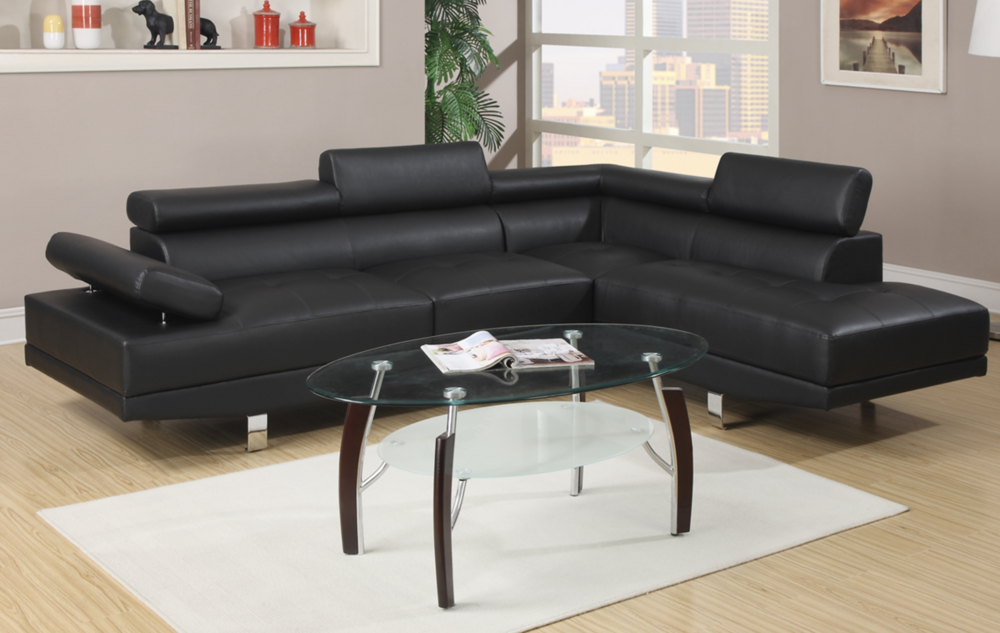 Superbe 2 PCS SECTIONAL SOFA (Black Or White)