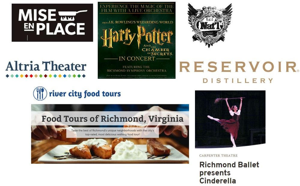 Experiences to gift in Richmond, Virginia 2018