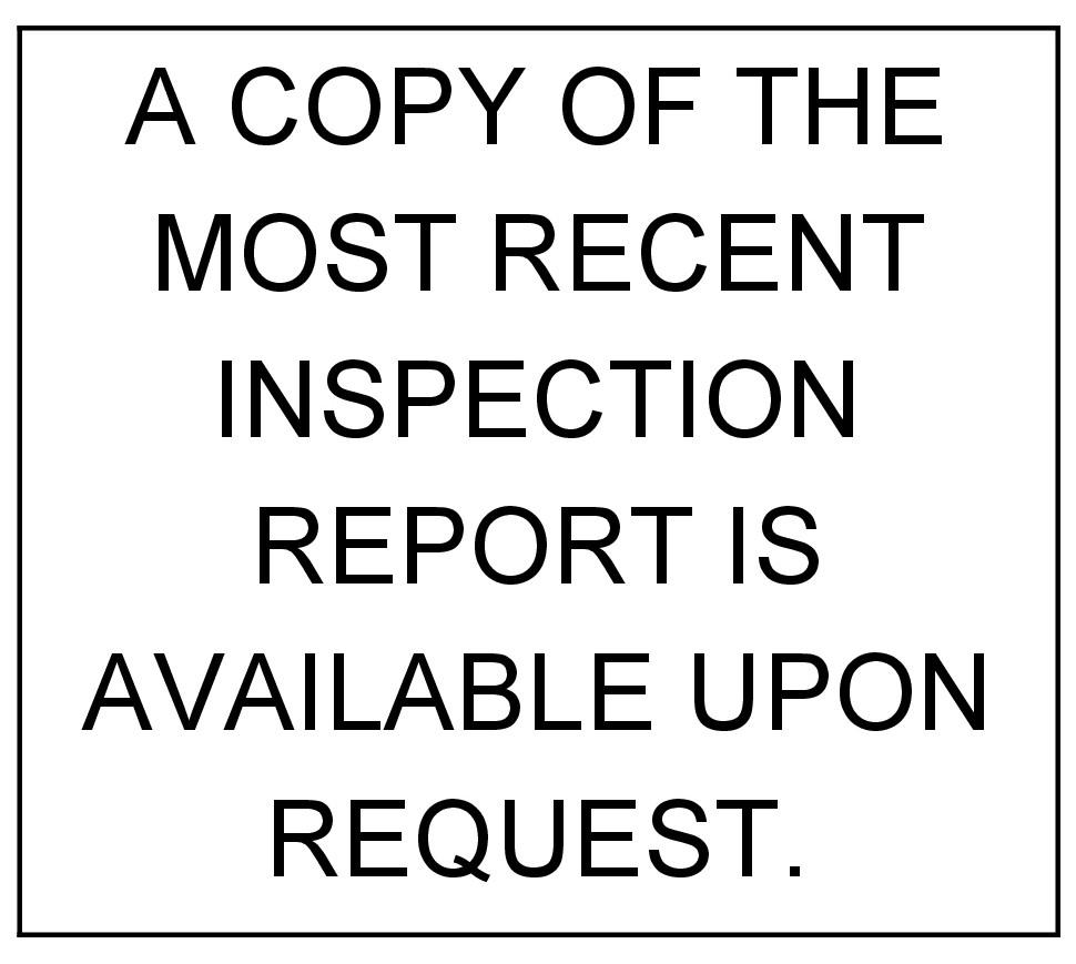 Health Department Inspection Report, DE