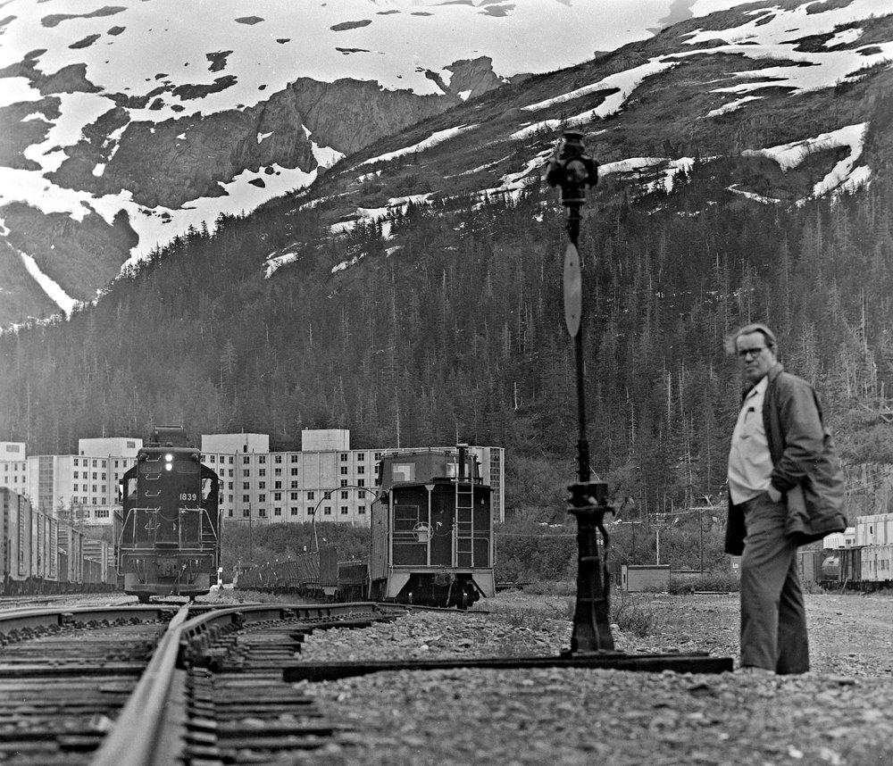Grandpa Gene in Whittier, Alaska (courtesy of the Alaska Railroad)