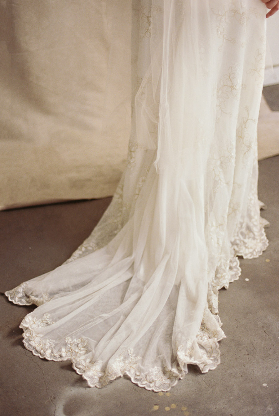 Vintage Lace wedding dress details | by Lara Lam Photography