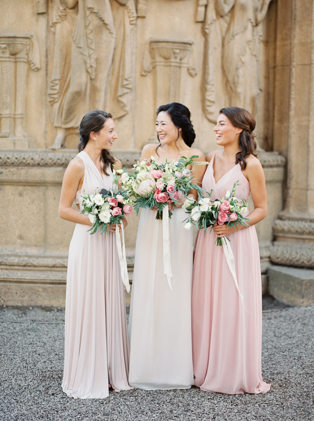 pink bridesmaid dresses inspiration for blush wedding   | by Lara Lam photography