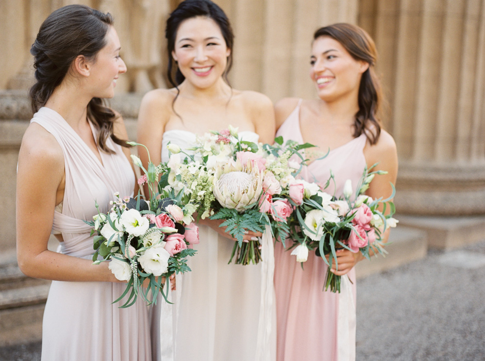 Pink and blush bouquets inspiration for wedding   | by Lara Lam photography