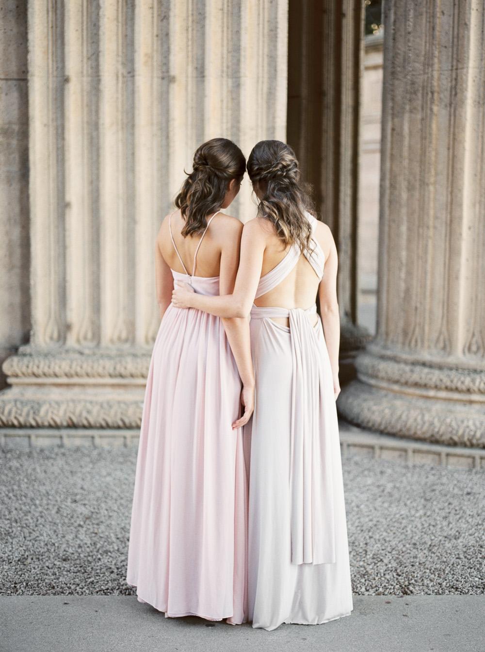 Weddington Way blush pink bridesmaid dress | by Lara Lam photography