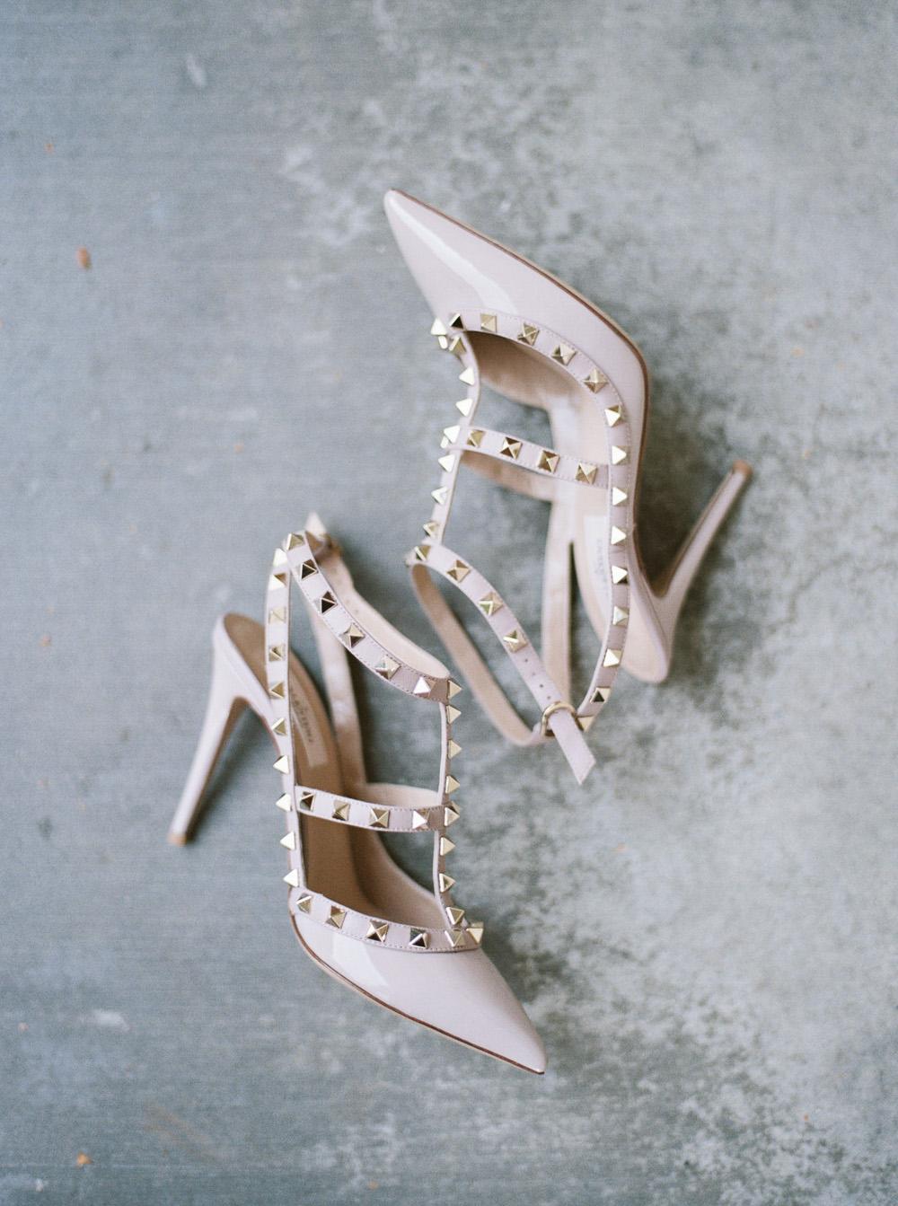 valentino rockstud poudre wedding pump heels