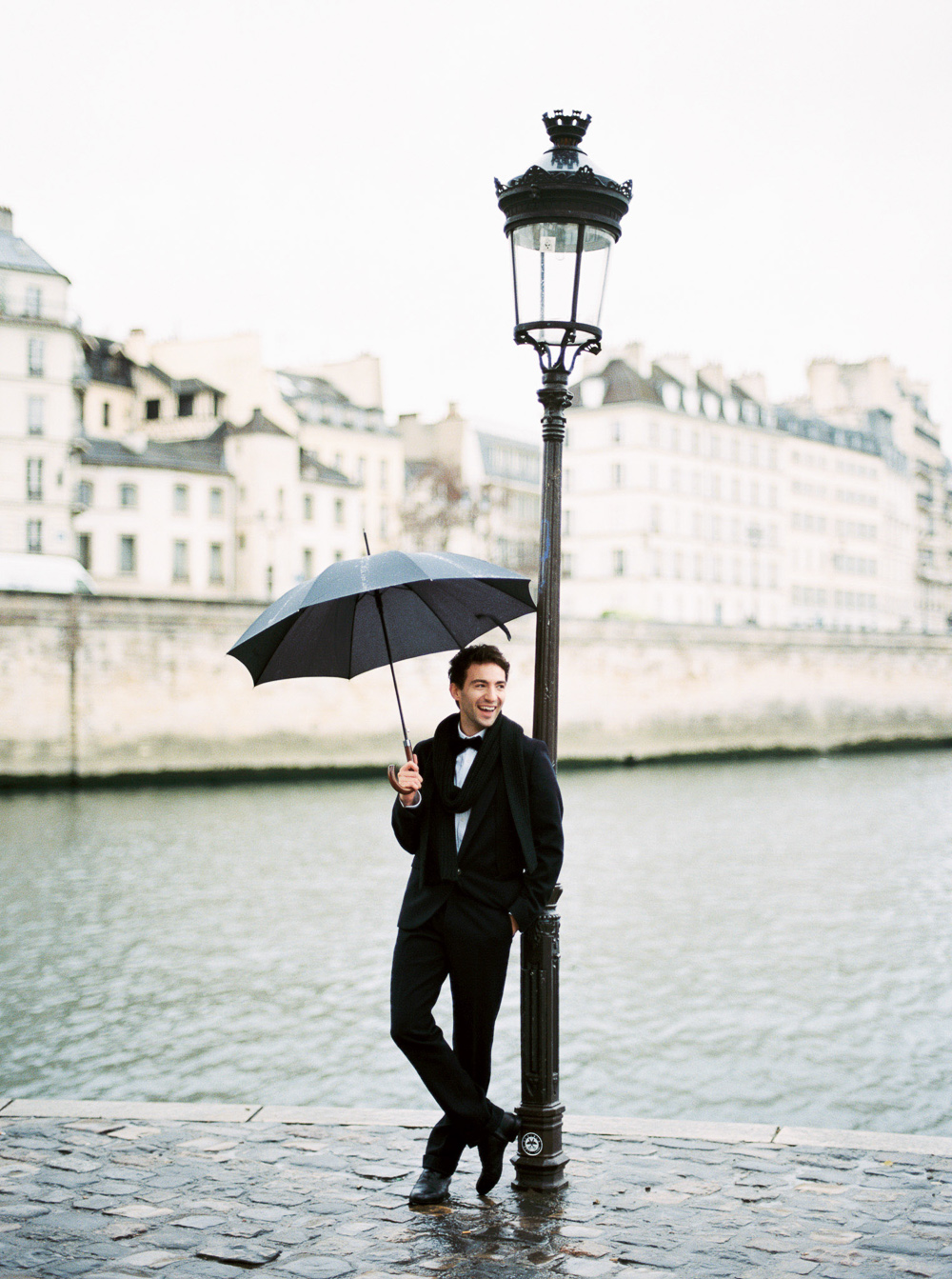 rainy day wedding engagement photo paris umbrella ideas | Paris wedding photography by Lara Lam