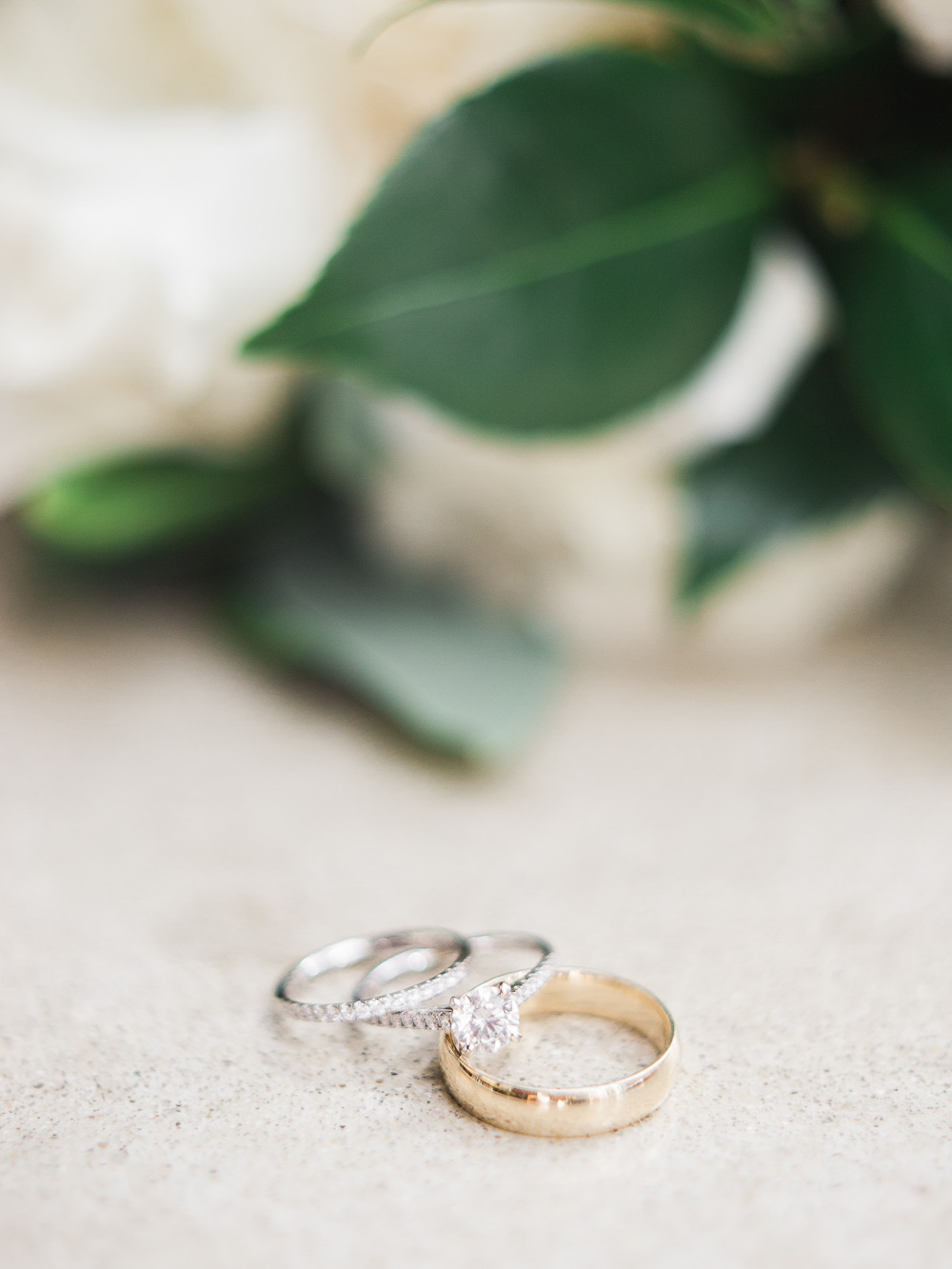 simple elegant diamond ring modern wedding