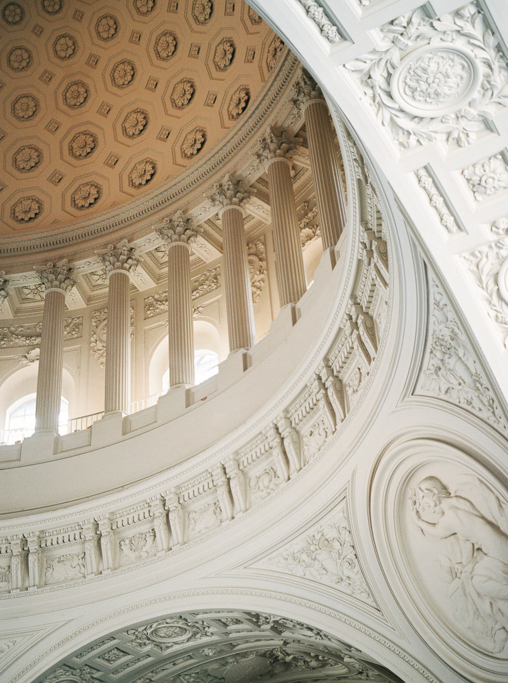 San Francisco city hall interior ceremony decor California Wedding Photographer Lara Lam