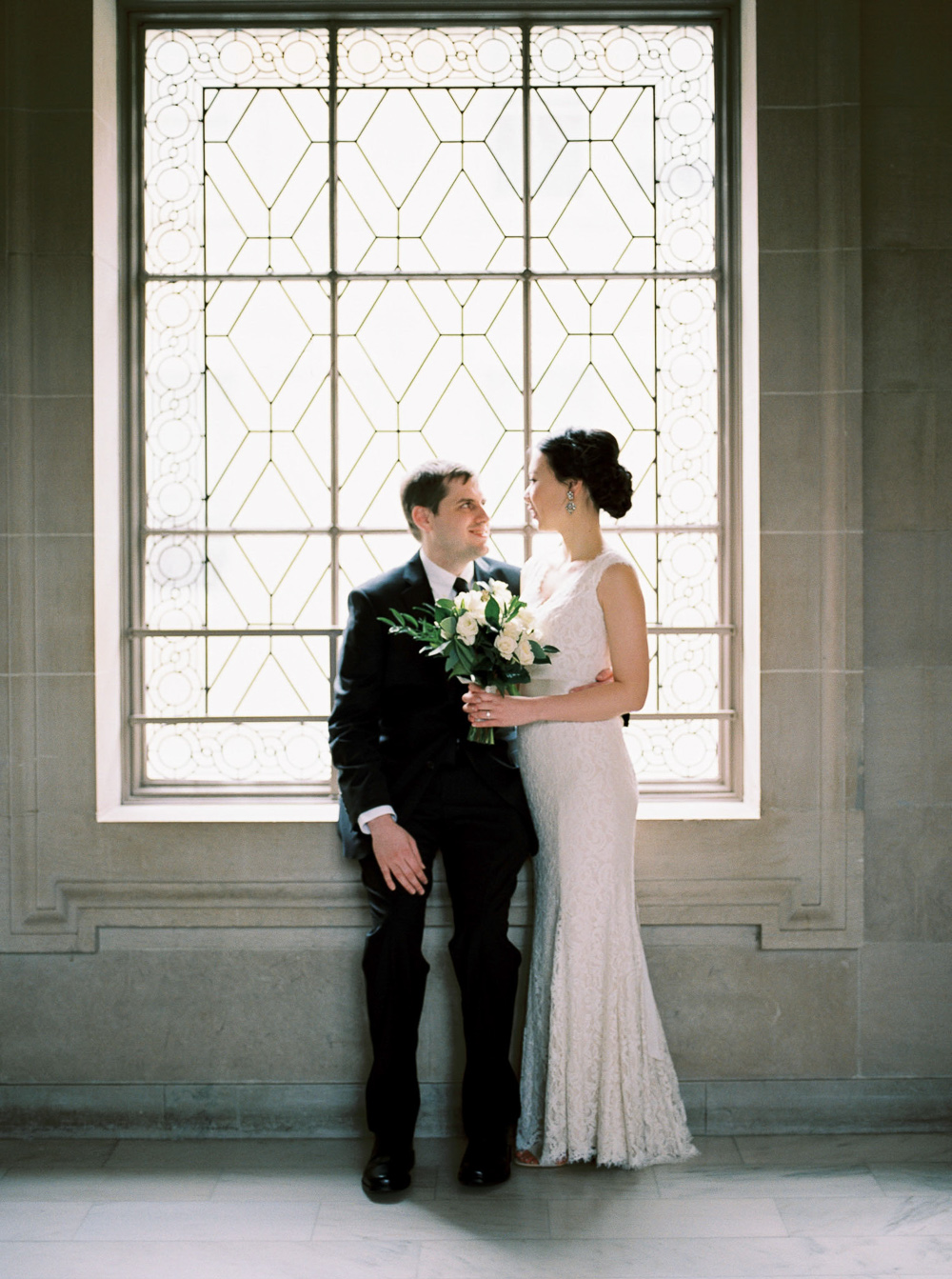 timeless bridal wedding photo san francisco city hall film photographer