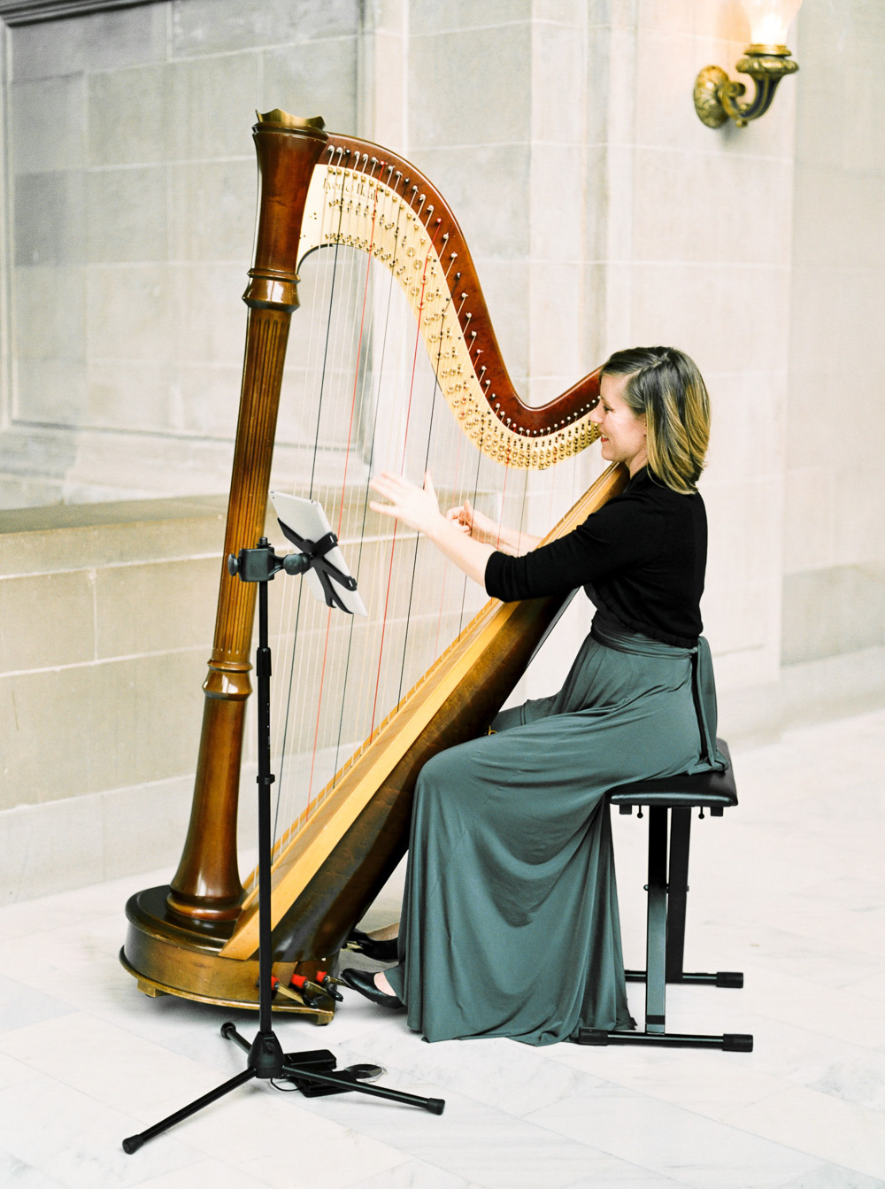 Harpist at wedding san francisco classic wedding ideas