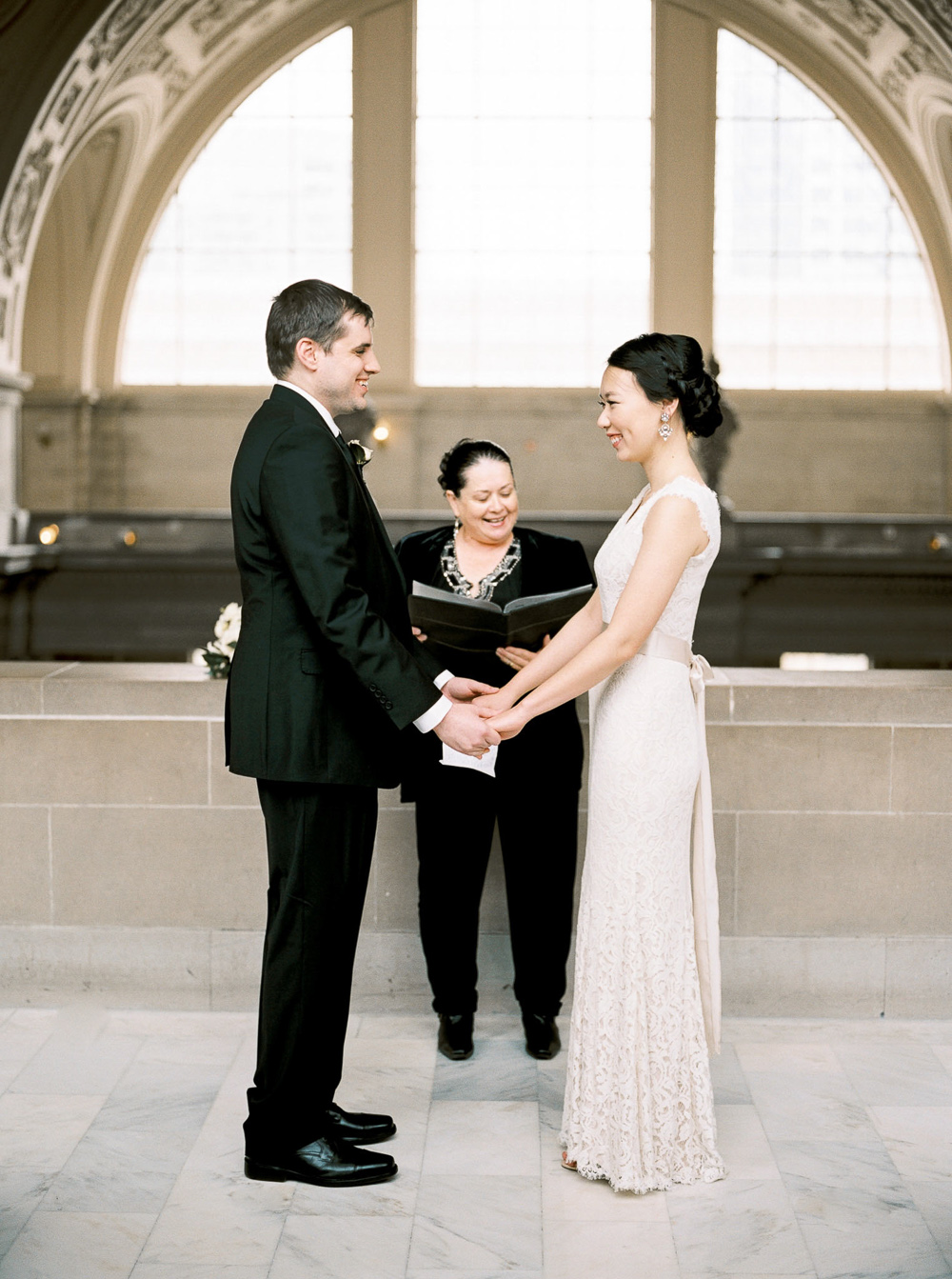 gorgeous San francisco city hall 4th floor wedding