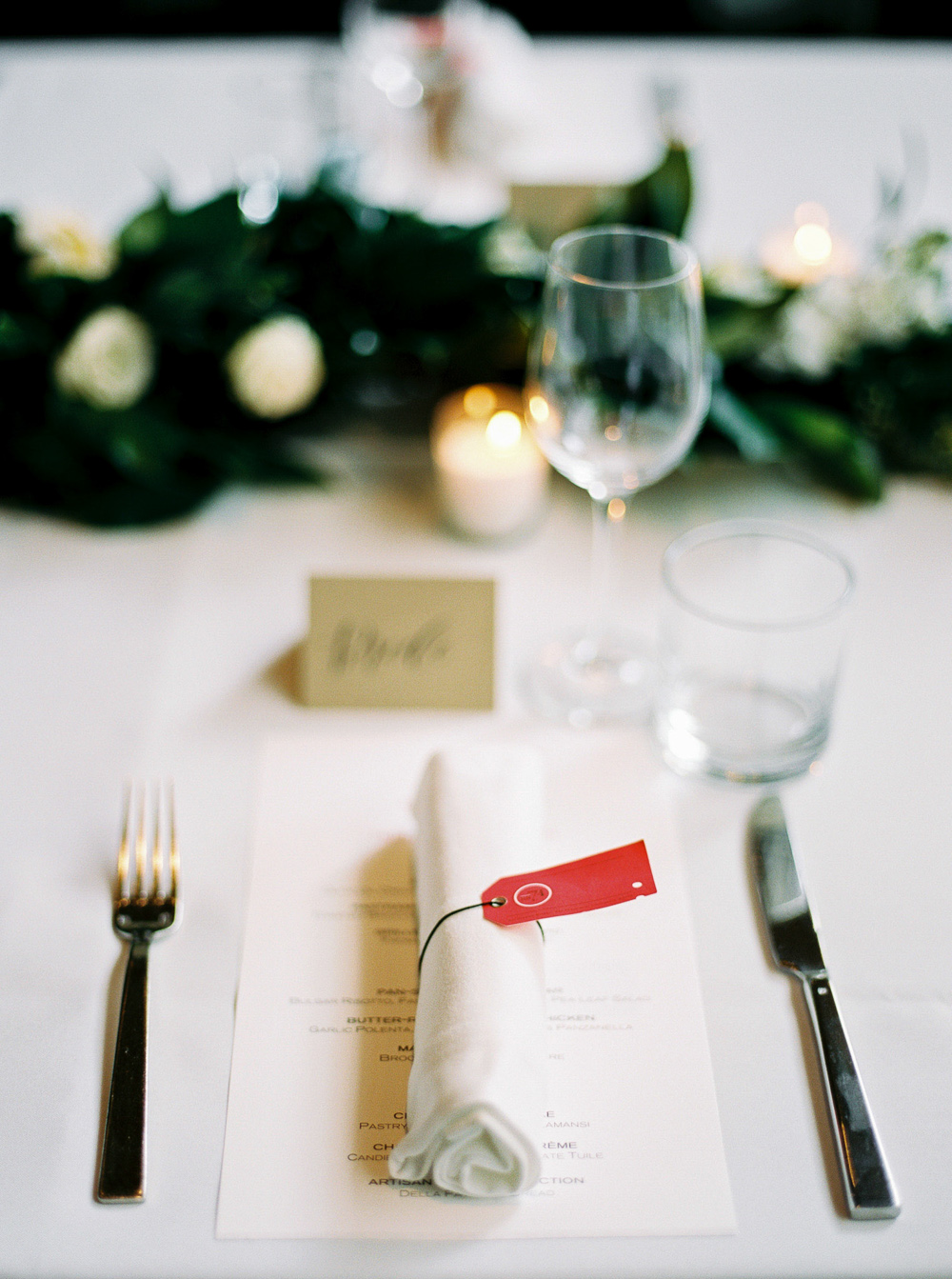 simple table setting ideas RN74 san francisco wedding reception