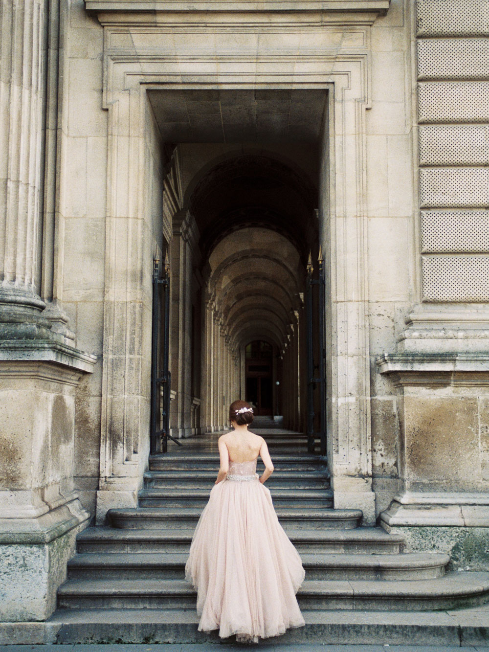 pink blush wedding dress inspiration destination wedding photographer lara lam
