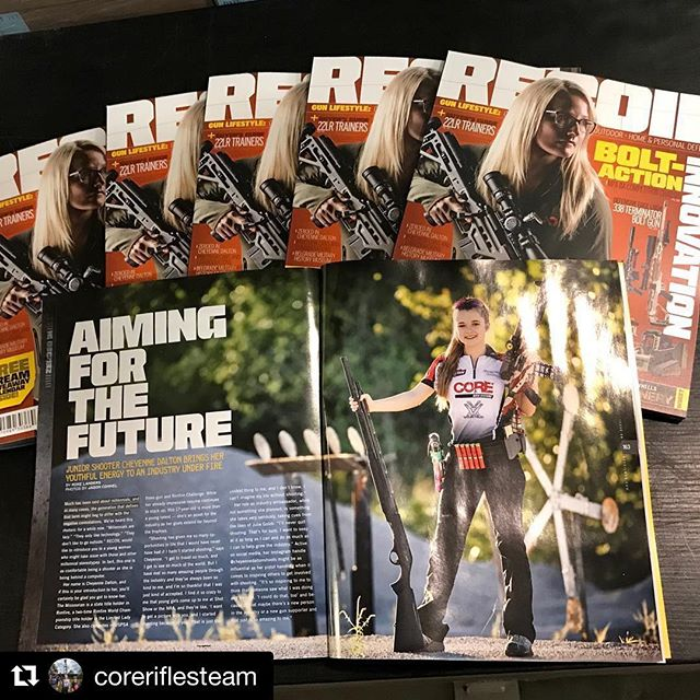 #Repost @coreriflesteam with @get_repost ・・・ Look who's in Recoil Magazine! @cheyennedaltonshoots Gives a great interview with @recoilmagazine #recoil #downrange #2amendment #farmlife