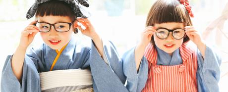 クッポグラフィー横浜港北店のおしゃれ七五三姉妹コーデ