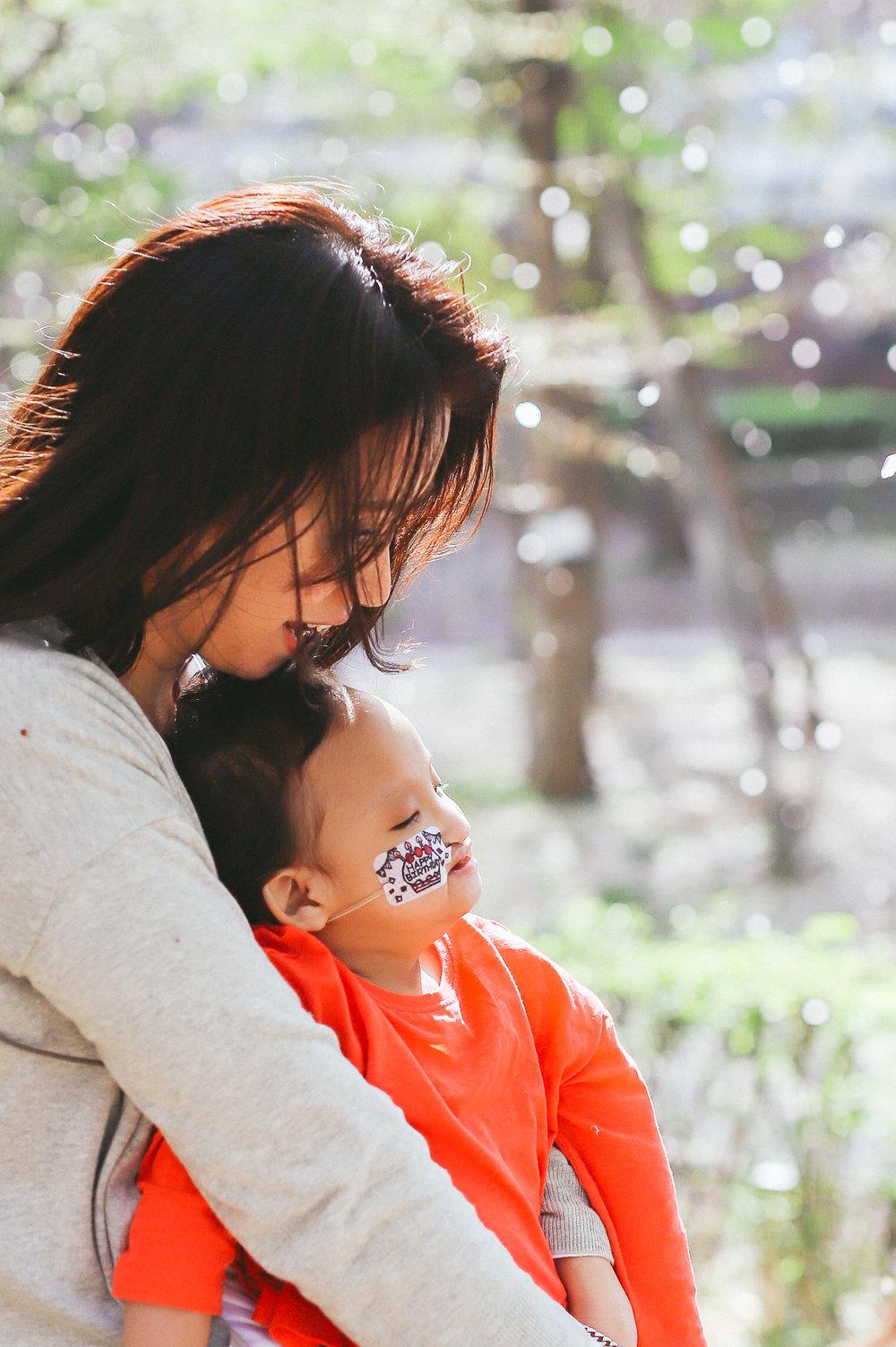 ママとの親子写真
