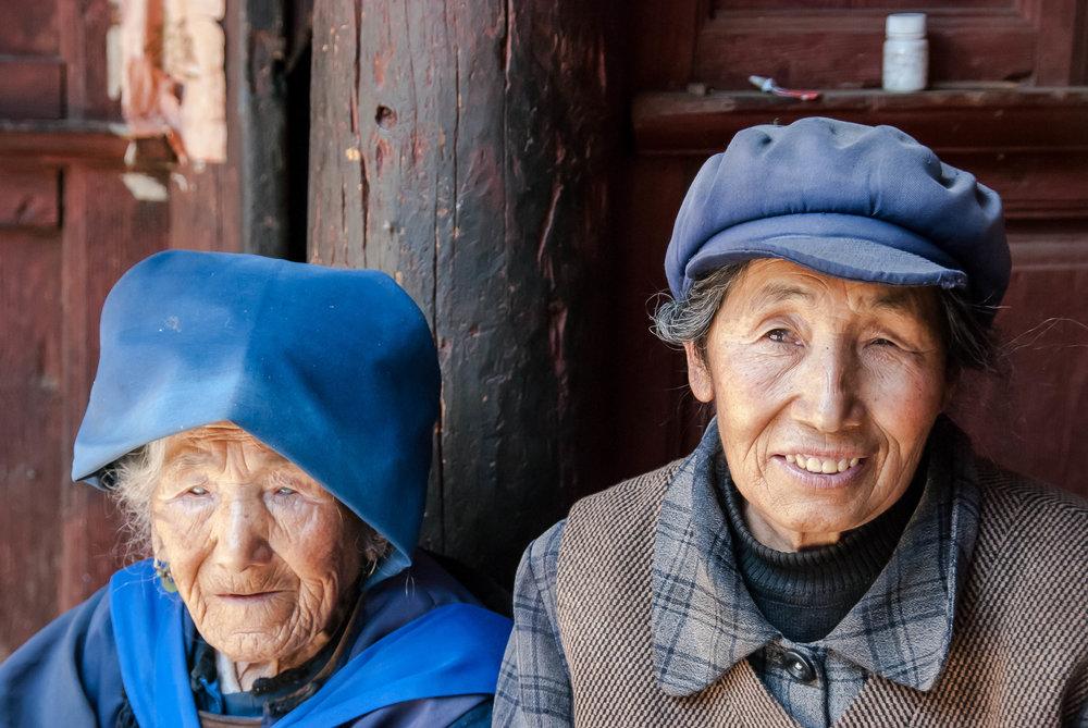 2008_06-26 Old Woman and Daughter at Home Lijiang Yunnan China_.jpg