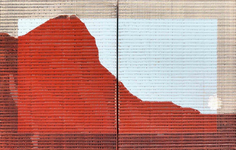 "Salt River Canyon AZ / Borrowed Landscape No.2 / 2017 / Diptych, 14""h x 22""w / Private collection"