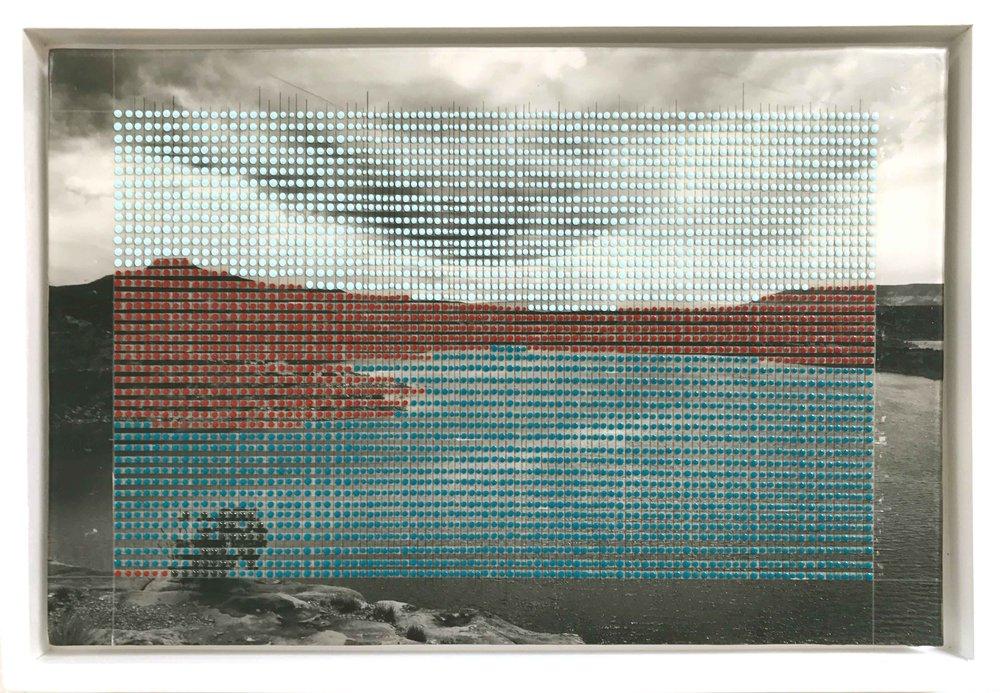 "Northern New Mexico lake, Abiquiu / Borrowed Landscape No.5 / 2017 / 10.5""h x 16""w / Private collection"