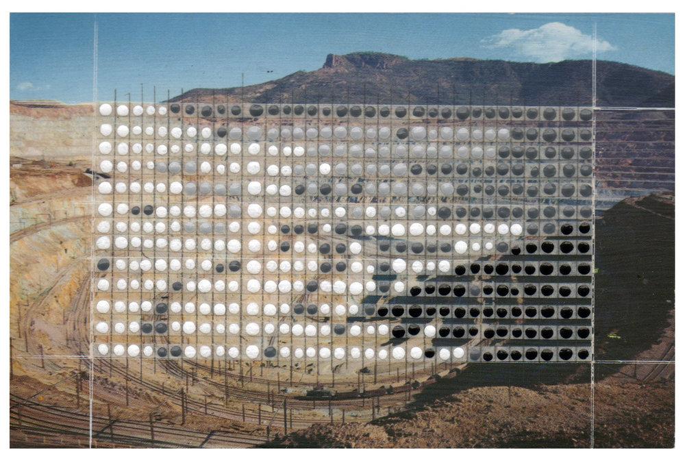 Borrowed Landscapes Study No.59/New Mexico, Santa Rita Copper Mine