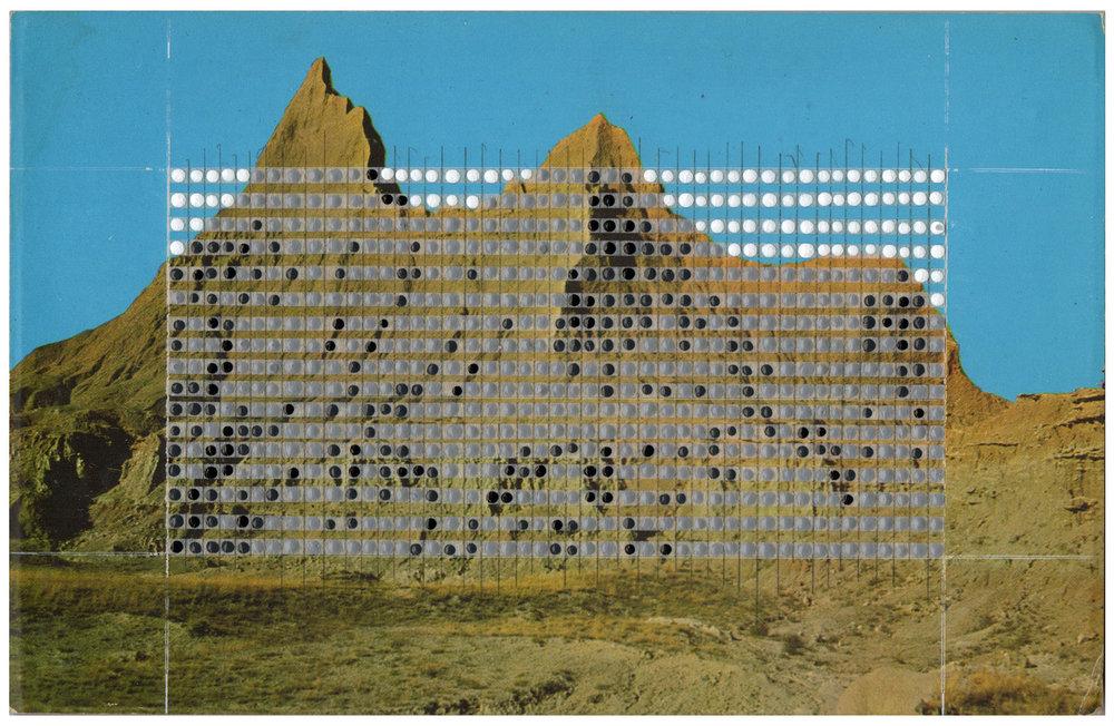 Borrowed Landscapes Study No.72/South Dakota, Badlands National Park, Twin Peaks