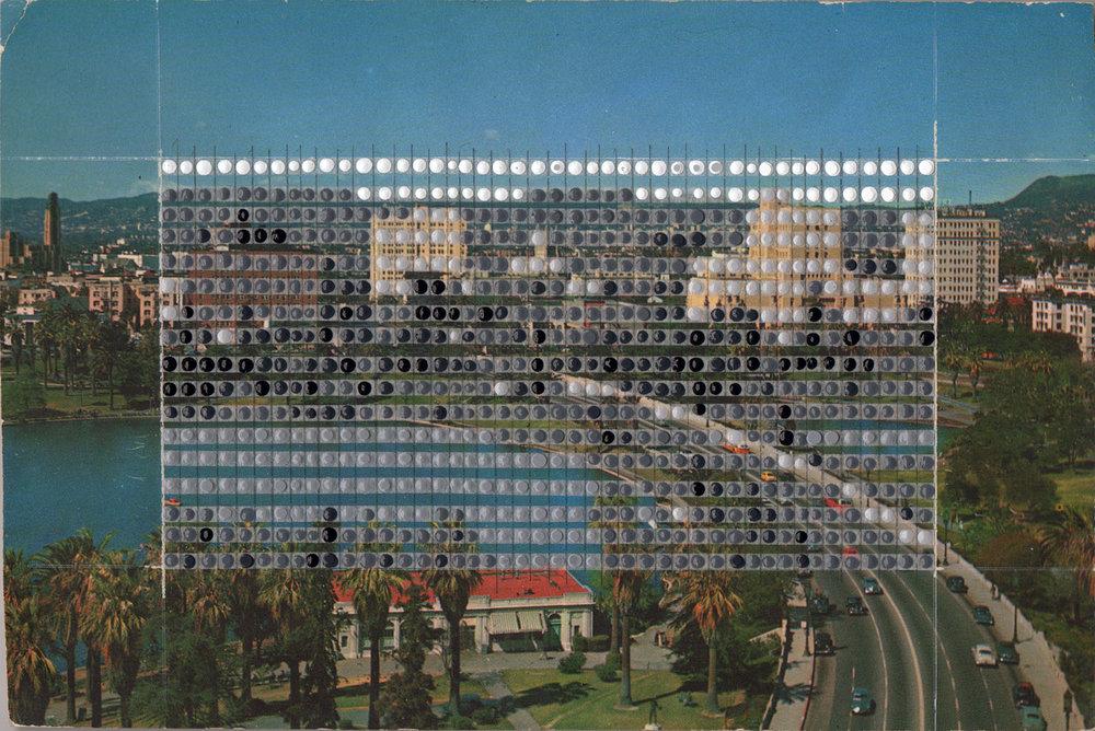 Borrowed Landscapes Study No.122 /California, Los Angeles Wilshire Blvd and MacArthur Park